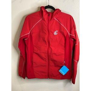 NWT Columbia WSU soft shell hoodie windbreaker